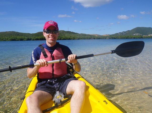 Kayaking is one of the few saving graces of St. Thomas ... but it's even better on nearby St. John.
