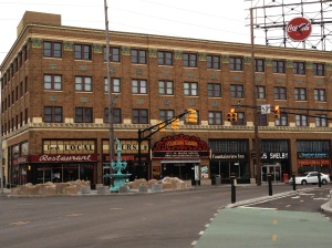 "The Fountain Square Theatre is home to two duckpin bowling lanes, End of the Line Public House and Smokehouse on Shelby and a theatre that hosts swing dance lessons on ""Frist Fridays."""