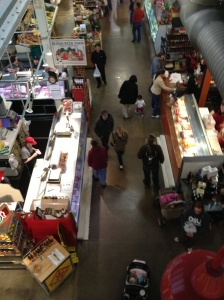 No matter what time of the day on a weekend, North Market is always busy with foodies!
