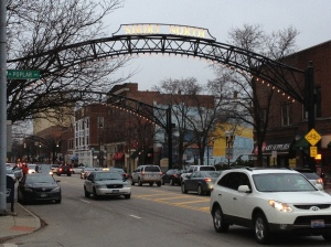 The entrance to the Short North arts district in Columbus, Ohio.