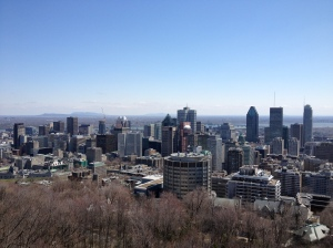 The view of downtown from the Mount Royal Chateau.