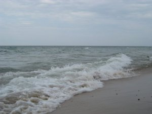 The beach is nice, but Lake Michigan water can be a bit chilly, especially early in the season.