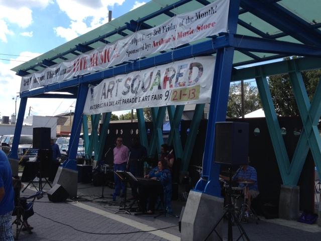 Catch some tune-skis in Fountain Square.