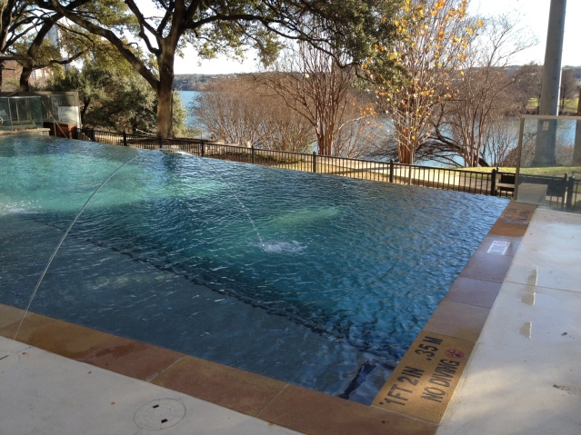 The newly renovated infinity pool.