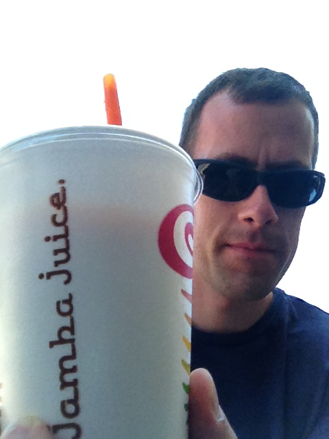 Don't be a loner and a loser and eat Jamba Juice by yourself at the food court.