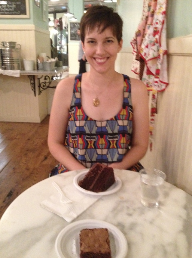 The best chocolate cake icing in the world is at Magnolia Bakery, according to the Mrs.