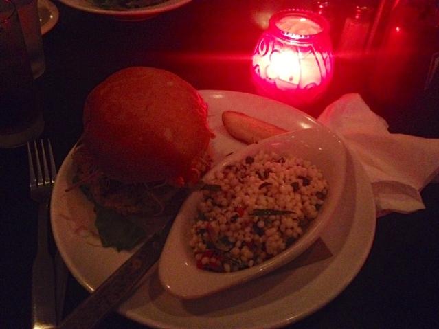 Mmm...felafel burger.