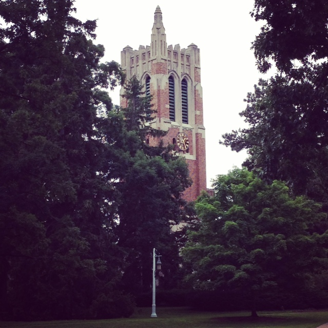 I still remember going to the top of the Beaumont Tower when I was with the student newspaper. It's loud up there too!