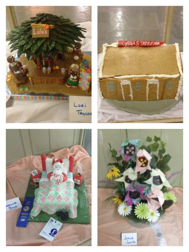 Pretty gingerbread houses, cakes and more at the Home & Family Arts Building.