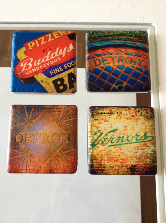Some sweet coasters we scored at My Secret Stash for The Frankfort House.