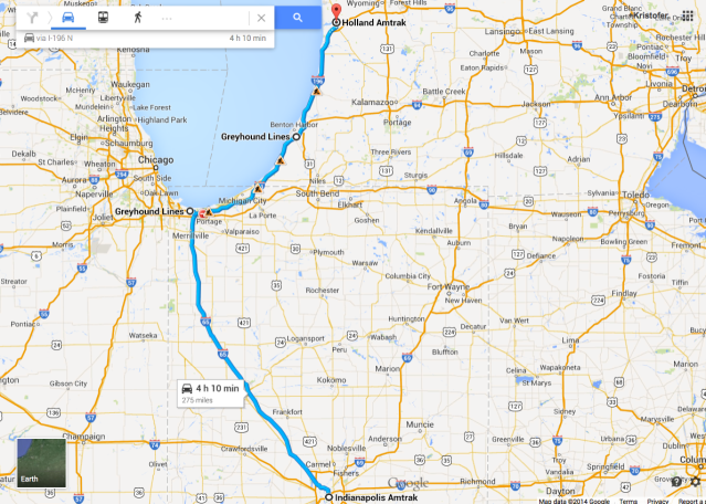 The long road to Michigan.