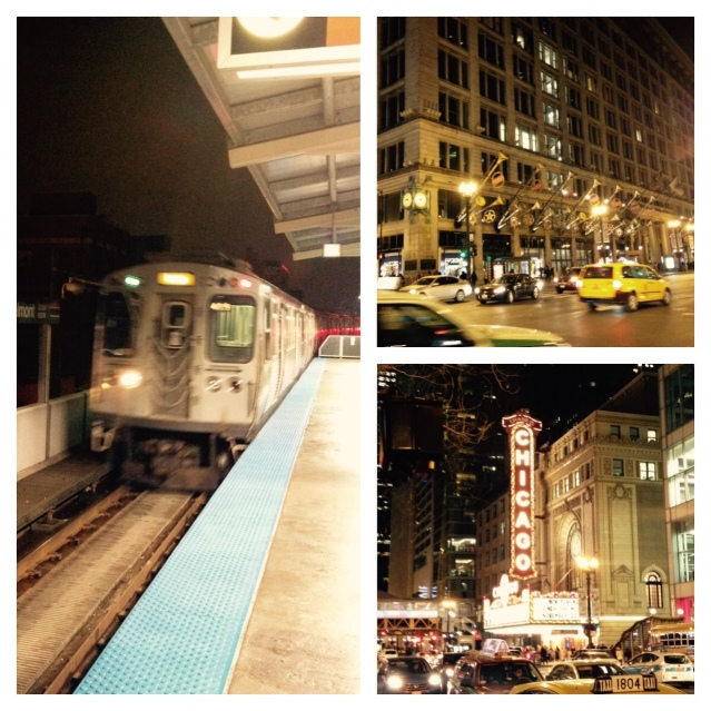 "Some of the sights including the ""L,"" State Street Macy's decked out in holiday flair and the Chicago Theatre."