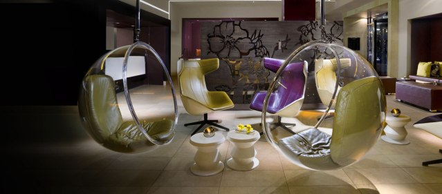 I really just want to sit in one of those orb chairs at our hotel.