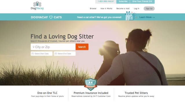 Woof. Woof. Find a dogsitter with dogvacay.com.