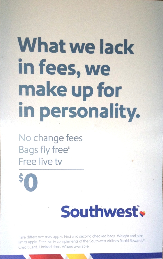 Oh, Southwest has a personality all right ...