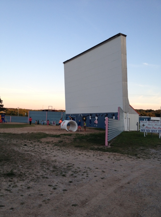 The screen and assorted nearby play structures.