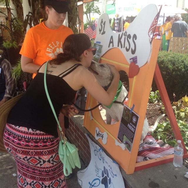 Puppy kisses at the fair?!?