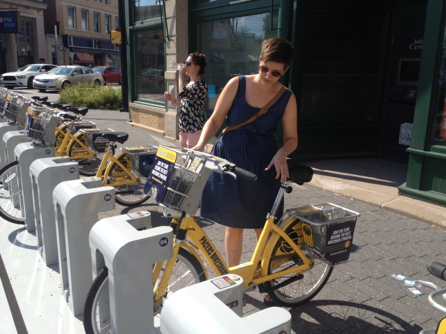 The Pacers Bikeshare is a great way to get around town.